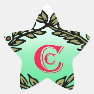 Imagen elegante de la cena de la corona pegatina en forma de estrella