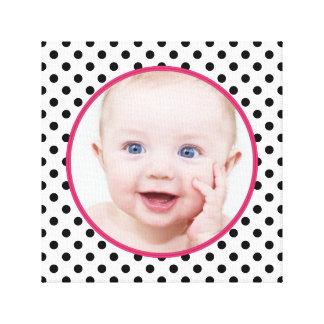 Imagen elegante personalizada de la foto del bebé  impresiones de lienzo