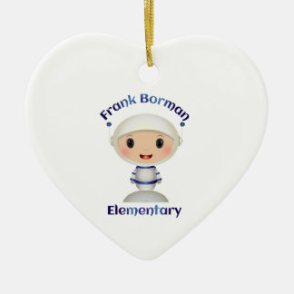 Imagen elemental del nombre del astronauta de adorno de cerámica en forma de corazón