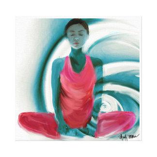 Imagen encuadernada del ángulo de la yoga impresión en lona estirada
