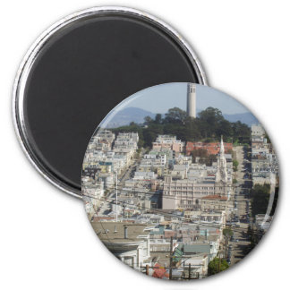 Imagen escénica de la torre de Coit Imán Redondo 5 Cm