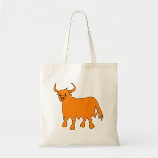 Imagen escocesa de la bolsa de asas de la vaca de