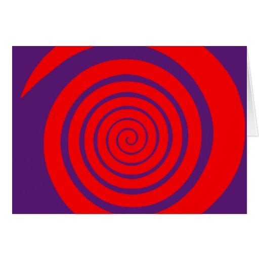 imagen espiral hipnótica roja tarjeta