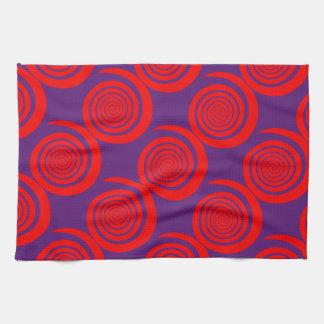 imagen espiral hipnótica roja toalla