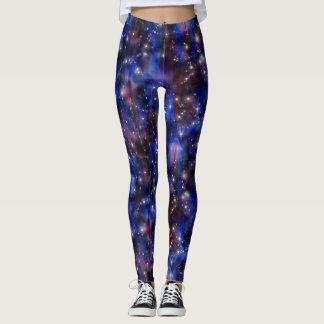 Imagen estrellada del cielo de la noche hermosa leggings