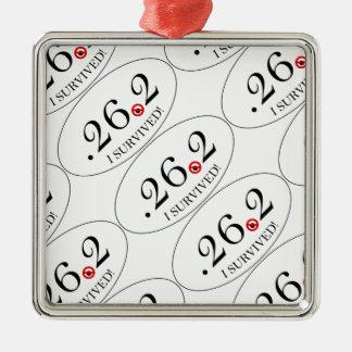 Imagen euro del pegatina de la parodia del maratón adorno navideño cuadrado de metal