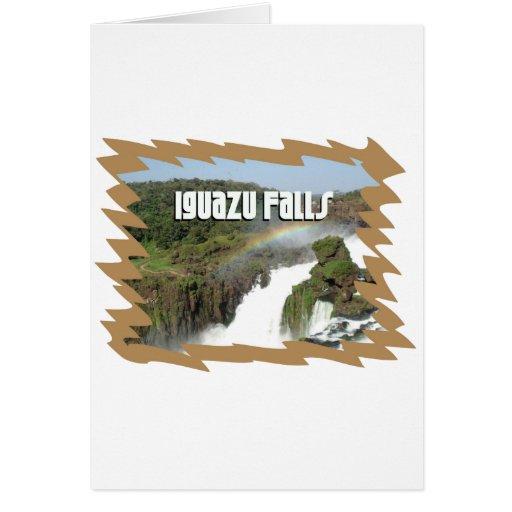 ¡Imagen exclusiva de las cataratas del Iguazú! Tarjeta De Felicitación
