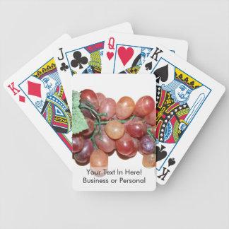 imagen falsa plástica de la comida de la uva baraja de cartas bicycle