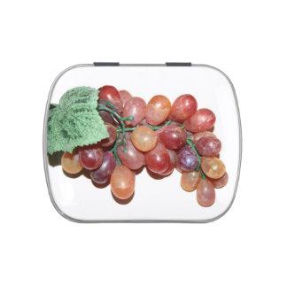 imagen falsa plástica de la comida de la uva jarrones de caramelos