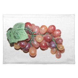 imagen falsa plástica de la comida de la uva mantel