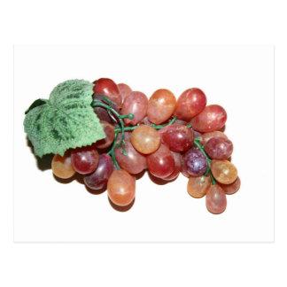 imagen falsa plástica de la comida de la uva postales