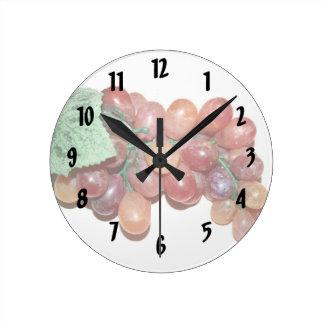 imagen falsa plástica de la comida de la uva reloj redondo mediano