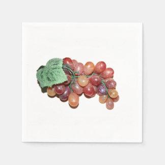 imagen falsa plástica de la comida de la uva servilleta de papel