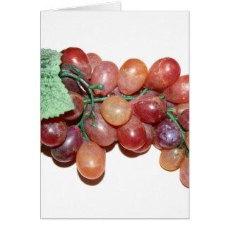 imagen falsa plástica de la comida de la uva tarjeta de felicitación