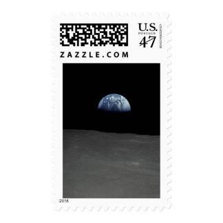 Imagen famosa de Earthrise de la luna Sello Postal