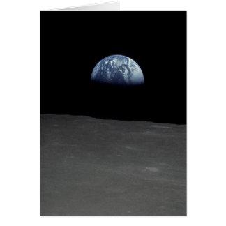 Imagen famosa de Earthrise de la luna Tarjeta De Felicitación