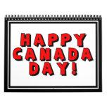 Imagen feliz del texto del día de Canadá Calendario De Pared