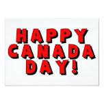 Imagen feliz del texto del día de Canadá Invitación 12,7 X 17,8 Cm