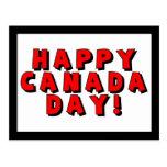 Imagen feliz del texto del día de Canadá Postal