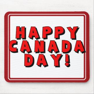 Imagen feliz del texto del día de Canadá Alfombrillas De Ratones
