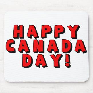 Imagen feliz del texto del día de Canadá Alfombrilla De Raton
