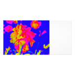 imagen floral colorida azul magenta de la flor abs tarjetas fotográficas