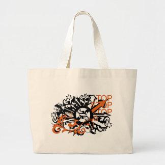 imagen floral de las flechas del grunge bolsa de mano