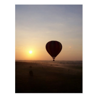 Imagen fotográfica del globo del aire caliente de postales