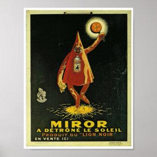 Imagen francesa del vintage asustadizo del verdugo póster