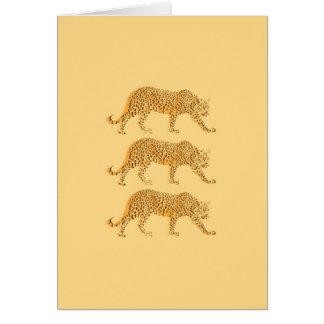 Imagen fresca de los leopardos del gato grande tarjeta de felicitación