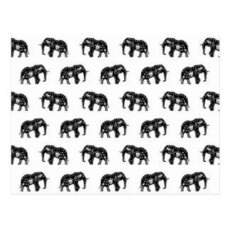 Imagen fresca del elefante del modelo de África Tarjeta Postal