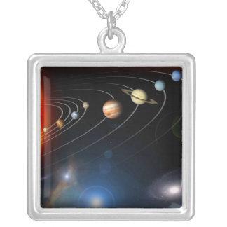 Imagen generada Digital de nuestra Sistema Solar Pendiente Personalizado