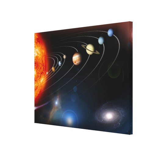 Imagen generada Digital de nuestra Sistema Solar Impresión En Lienzo