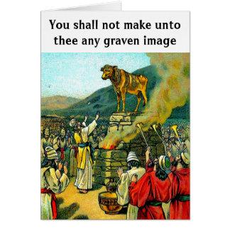 Imagen grabada tarjeta de felicitación