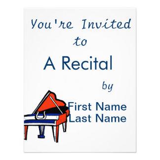 Imagen gráfica azul blanca roja del piano de cola comunicados personales
