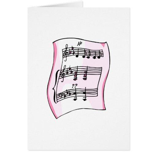 Imagen gráfica de la partitura, versión rosada felicitaciones