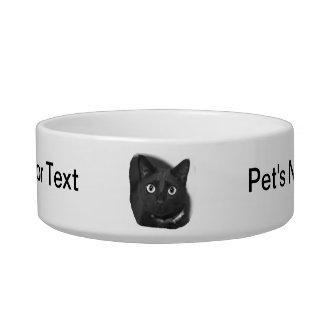 Imagen grande de BW de los ojos del gato gris Tazon Para Gato