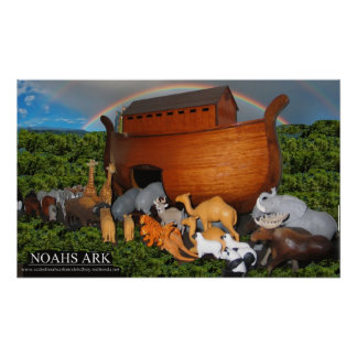 Imagen grande de la arca de Noahs Póster