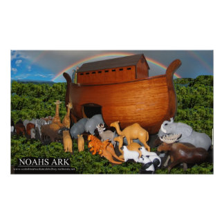 Imagen grande de la lona de la arca de Noahs Póster