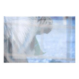 imagen grande lateral azul del animal del gato del  papeleria