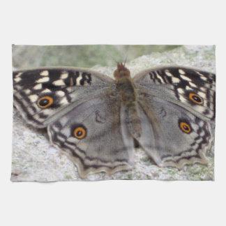 Imagen gris de la mariposa - toalla de té de la co