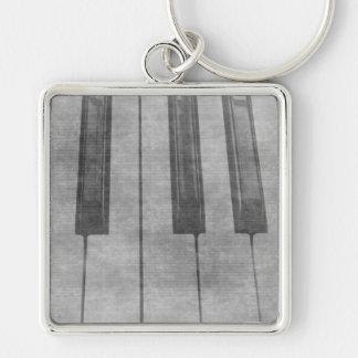 Imagen gris silenciada del teclado de piano del Gr Llaveros