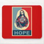 Imagen hermosa de Cristo en un diseño del arte mod Alfombrillas De Raton