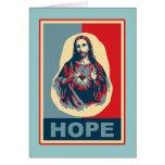 Imagen hermosa de Cristo en un diseño del arte mod Tarjeta