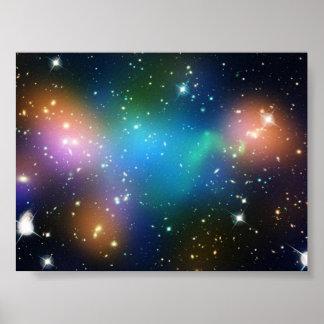 Imagen hermosa del espacio póster