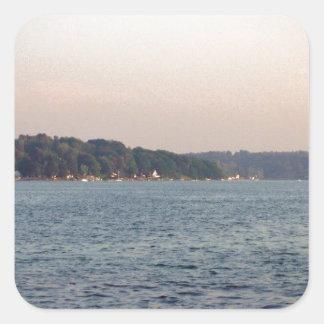 Imagen hermosa del lago Ontario Pegatina Cuadrada