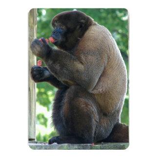 """Imagen hermosa del mono lanoso de Brown Invitación 5"""" X 7"""""""