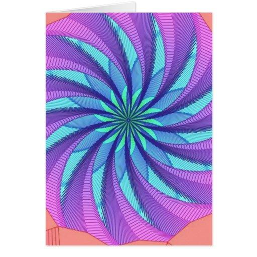 Imagen hipnótica 2 tarjeta de felicitación