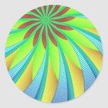 Imagen hipnótica 3 pegatina redonda