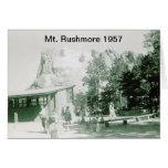 Imagen histórica del monte Rushmore Felicitación